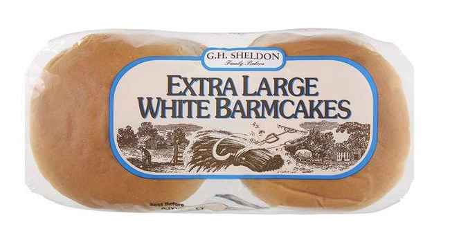 Old Extra large White Barmcakes