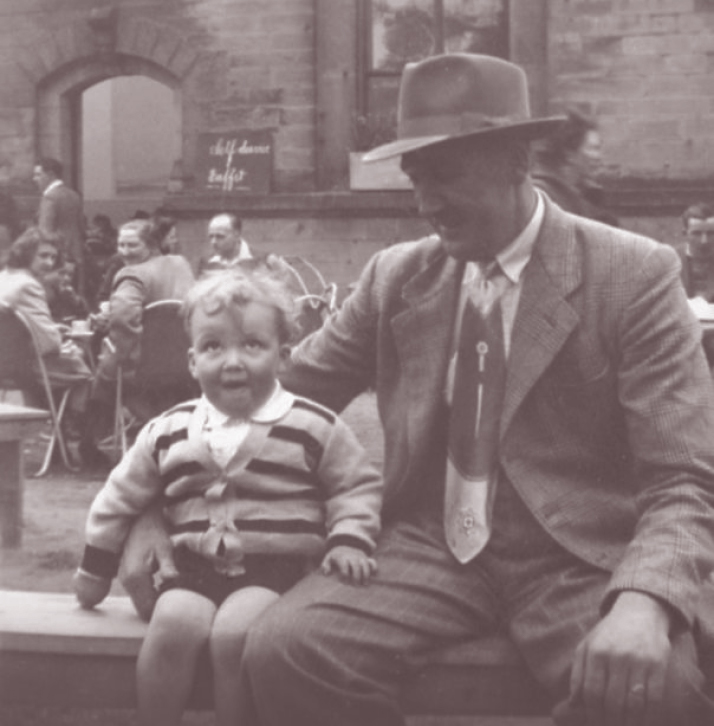 Graham and his Dad 1952