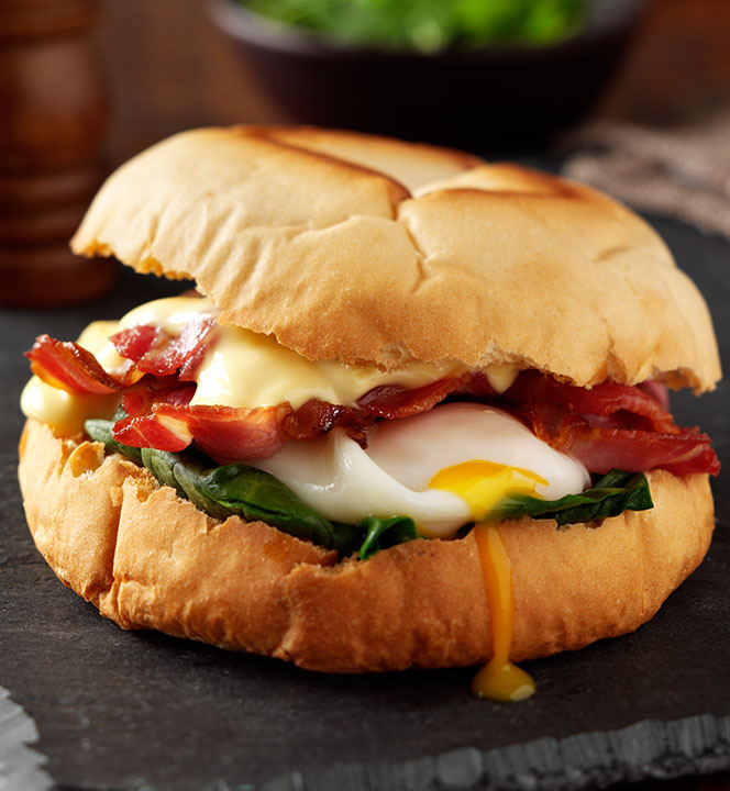 Sheldon's egg and bacon butty