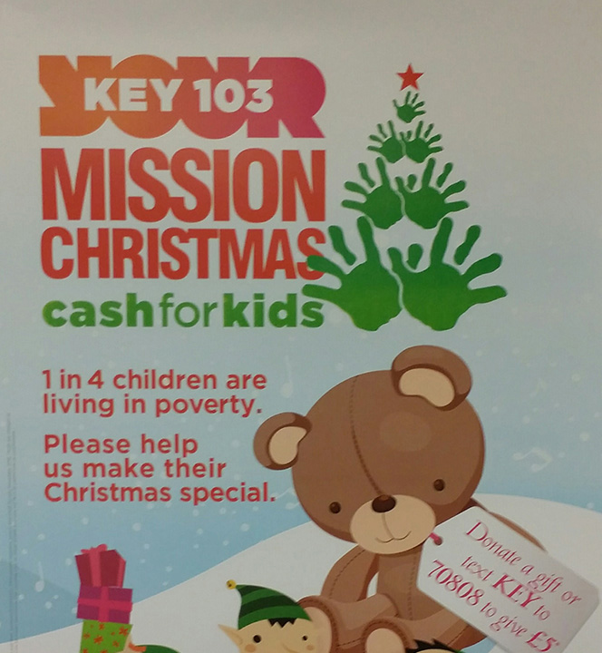 Mission Christmas appeal poster featured